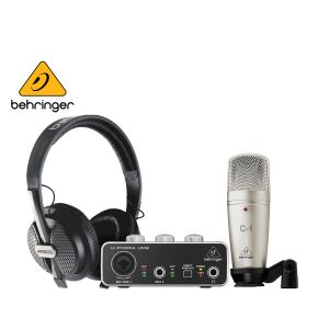 Behringer U-PHORIA STUDIO Complete Recording/Podcasting With USB Audio Interface, Condenser Microphone