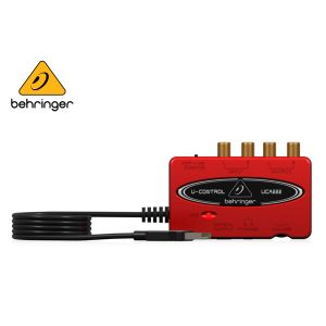 Behringer U Control UCA222 Ultra Low Latency 2 In 2 Out USB Audio Interface