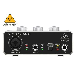 Behringer UM2 Audiophile 2x2 USB Audio Interface With XENYX Mic Preamplifier