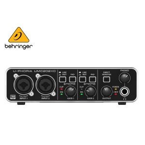 Behringer UMC202HD Audiophile 2x2 24-Bit/192 kHz USB Audio Interface With Midas Mic Preamplifiers