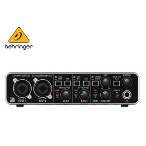 Behringer UMC204HD Audiophile 2x4 24-Bit/192 kHz USB Audio/MIDI Interface With Midas Mic Preamplifiers